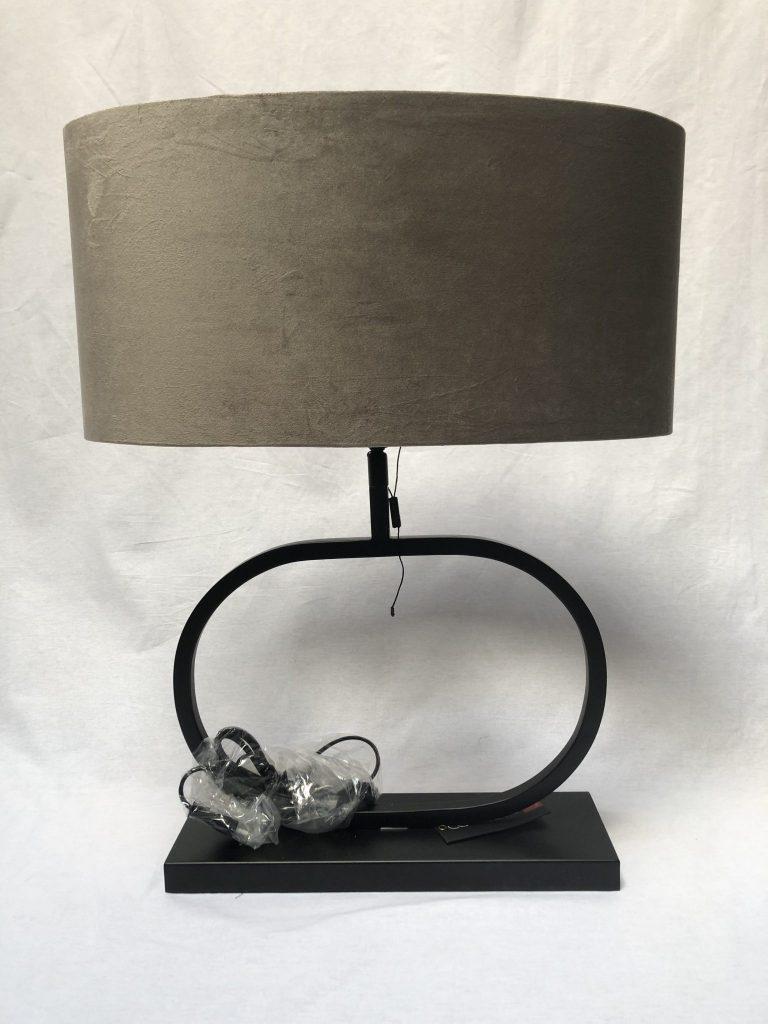 Lampenkap velvet taupe