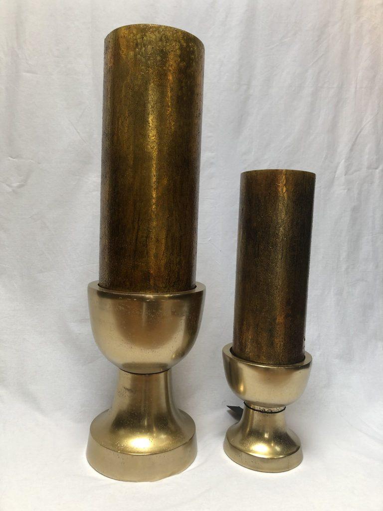 Colmore kandelaar raw bronze L