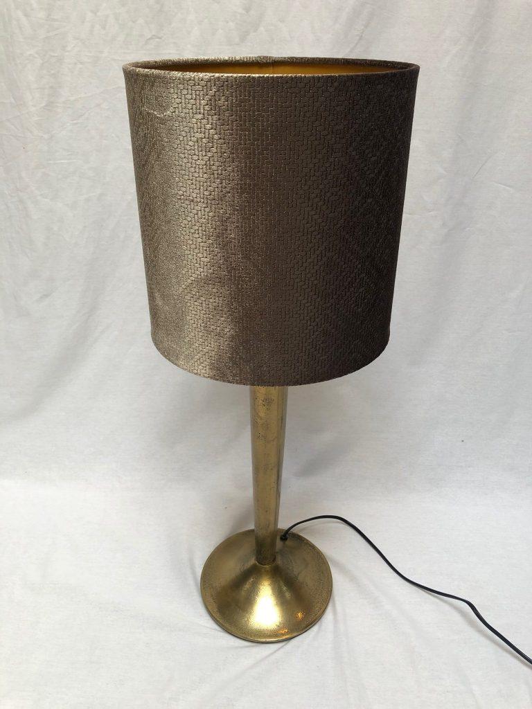Lampenkap velvet taupe met print