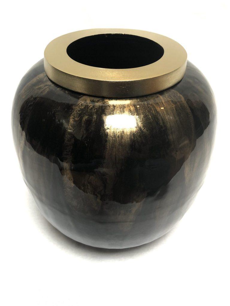 Champagne/zwart colmore vaas