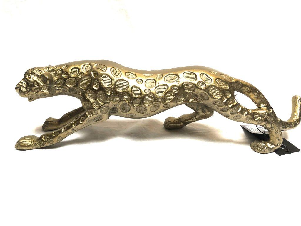 Decoratie luipaard raw bronze
