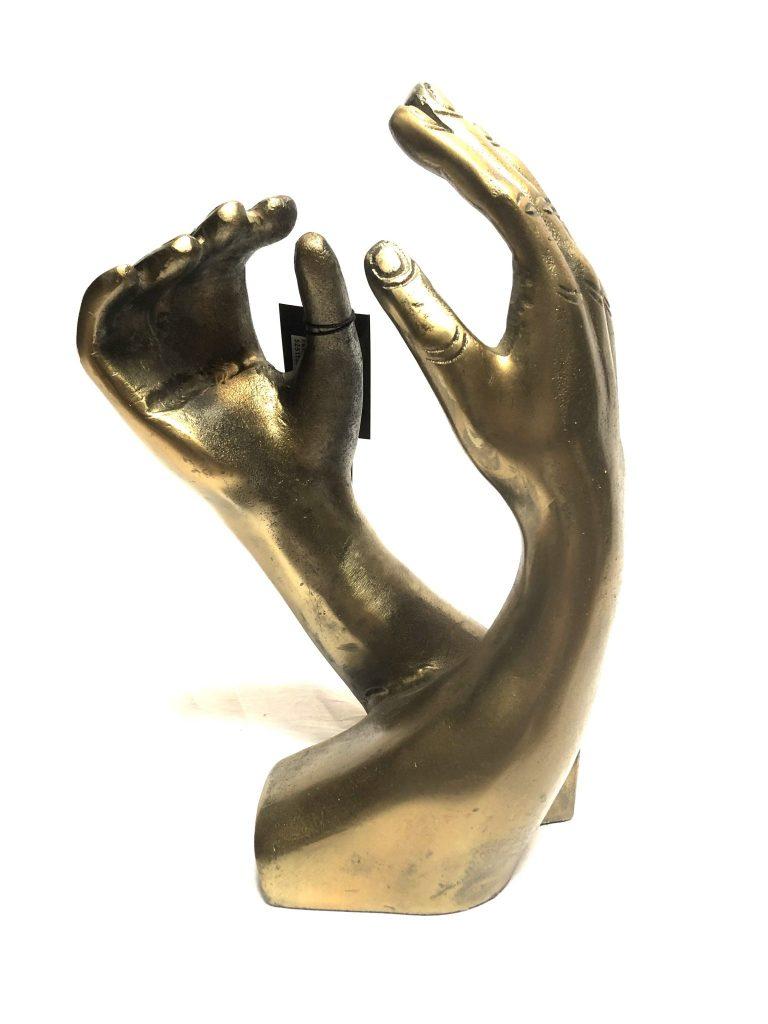 Raw antique goud decoratie hand